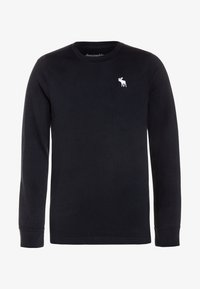 Abercrombie & Fitch - BASIC CREW - Long sleeved top - navy - 0