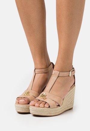 HALE - Platform sandals - nude