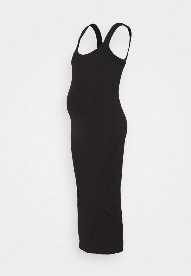 SCOOP NECK CAMI - Žerzejové šaty - black