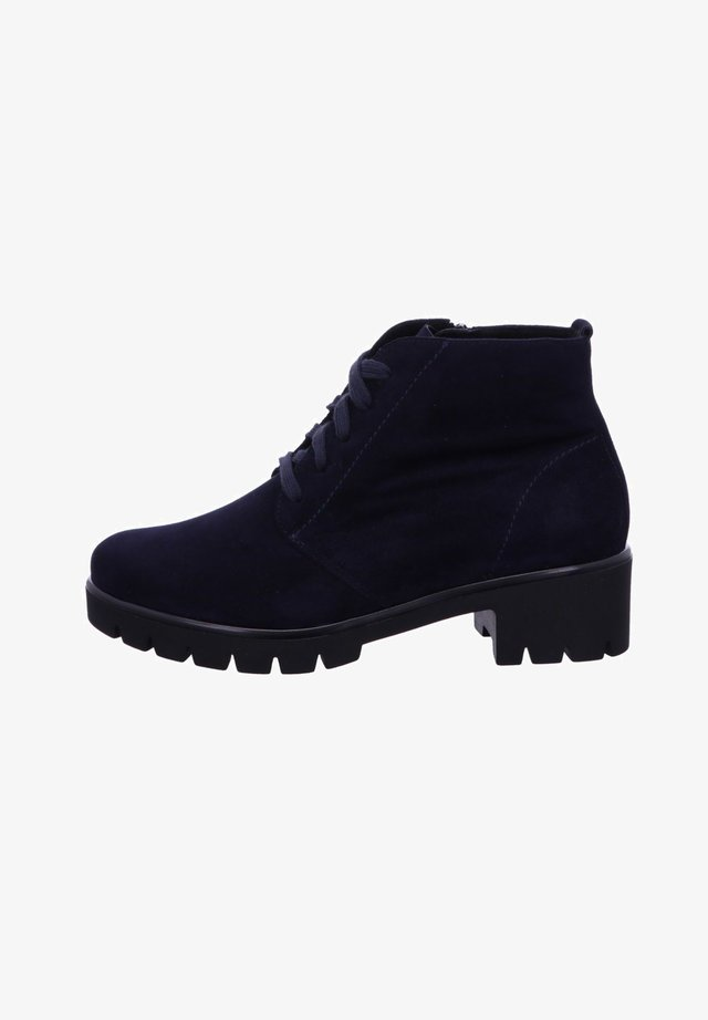 Lace-up ankle boots - midnightblue