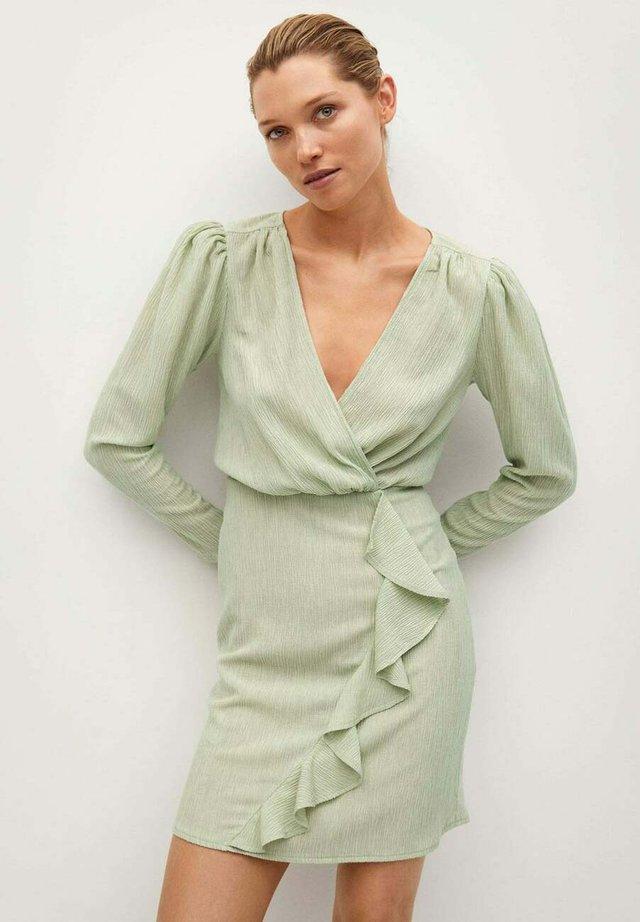 Sukienka etui - pastellgrün