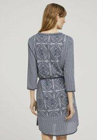 TOM TAILOR - Day dress - navy white ethno design - 2