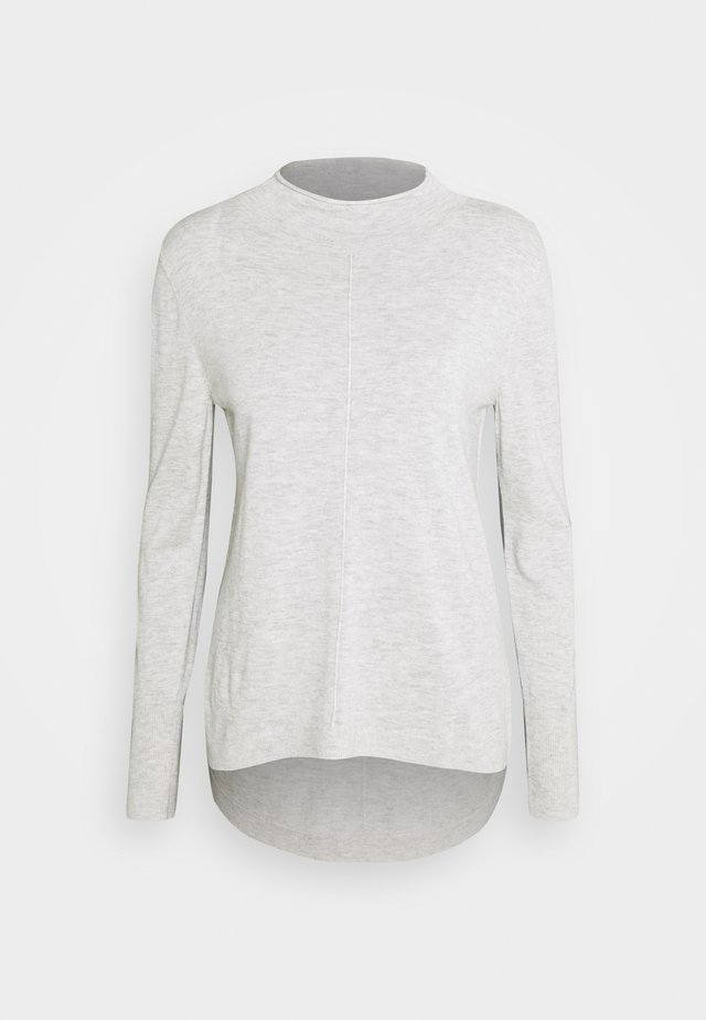 STAND COLLAR JUMPER - Maglione - soft silver grey melange