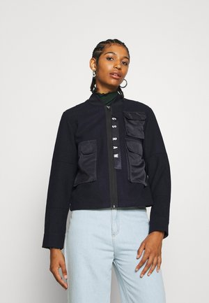 3D POCKET WOOL BOMBER  - Chaquetas bomber - dark blue