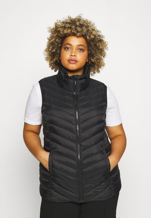 LIGHTWEIGHT PADDED GILET WITH RECYCLED WADDING - Väst - black
