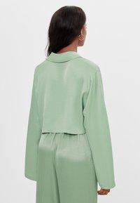 Bershka - Button-down blouse - green - 2