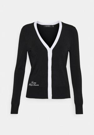 DENZEL LONG SLEEVE - Mikina na zip - black/white