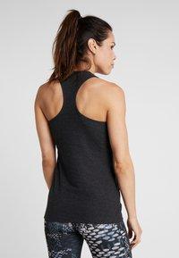 Reebok - TRAINING ESSENTIALS RIBBED TANKTOP - Sports shirt - black - 2