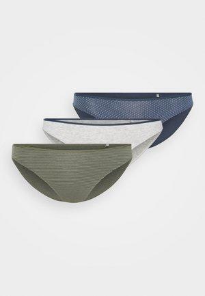 3 PACK - Briefs - grey/blue/khaki