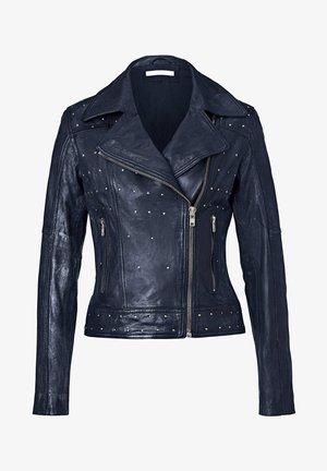 Leather jacket - marineblau