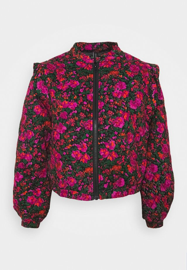 YASBLOOMA QUILTED BOMBER JACKET  - Giubbotto Bomber - black/blooma