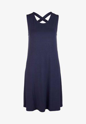MIT RÜCKENAUSSCHNITT - Jersey dress - dark blue