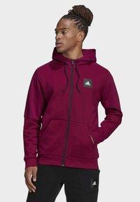adidas Performance - MUST HAVES FULL-ZIP STADIUM HOODIE - Zip-up hoodie - purple - 0