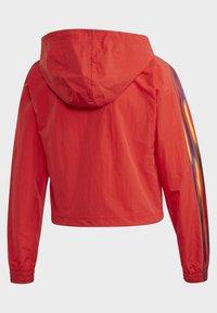 adidas Originals - ADICOLOR HALF-ZIP CROP TOP - Sweatjacke - red - 4