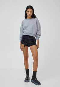 PULL&BEAR - Denim shorts - black - 1