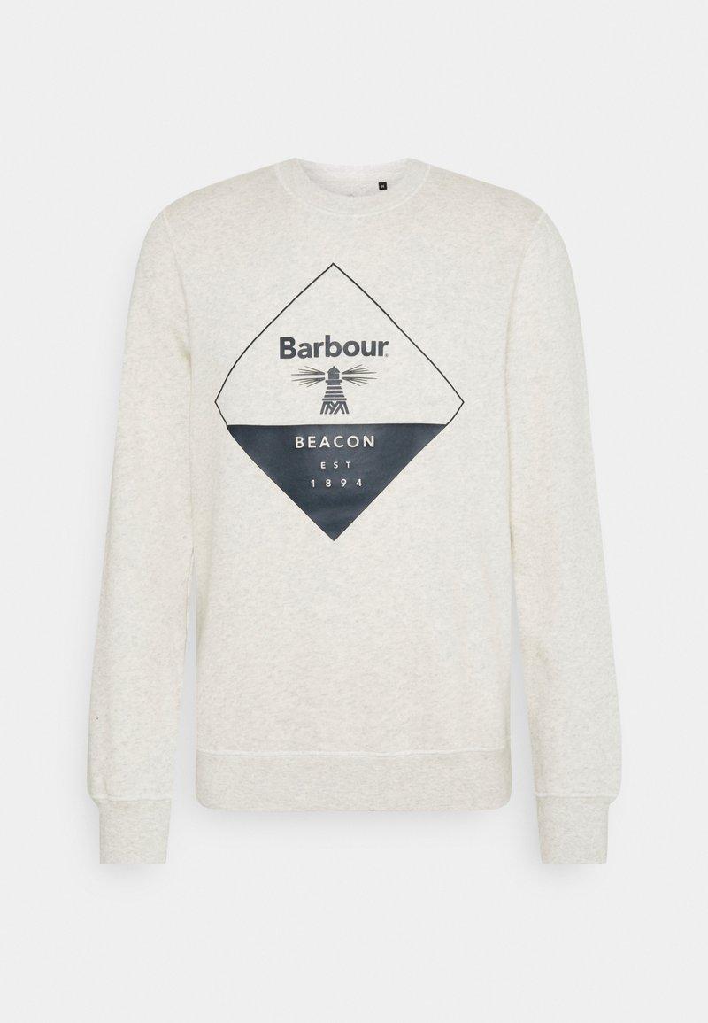 Barbour Beacon - BLAZE OVERLAYER - Sweatshirt - ecru marl