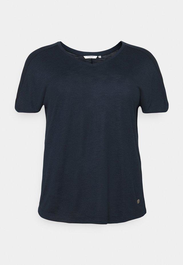 OVERCUT SLEEVES - T-shirt basique - sky captain blue