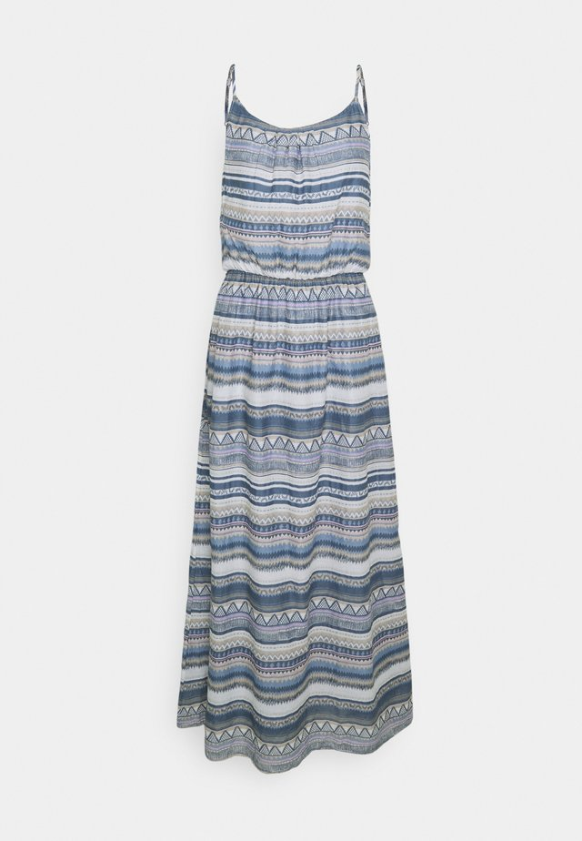 ONLASIA LIFE DRESS - Vestido largo - faded denim/desert flower