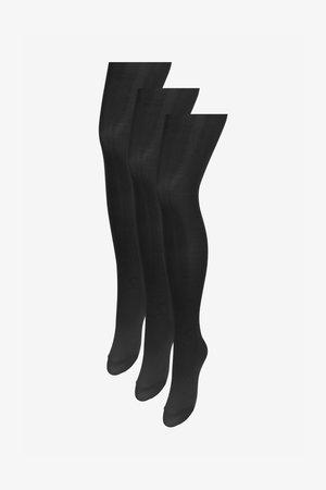 60 DENIER OPAQUE TIGHTS THREE PACK - Calcetines por encima de la rodilla - black