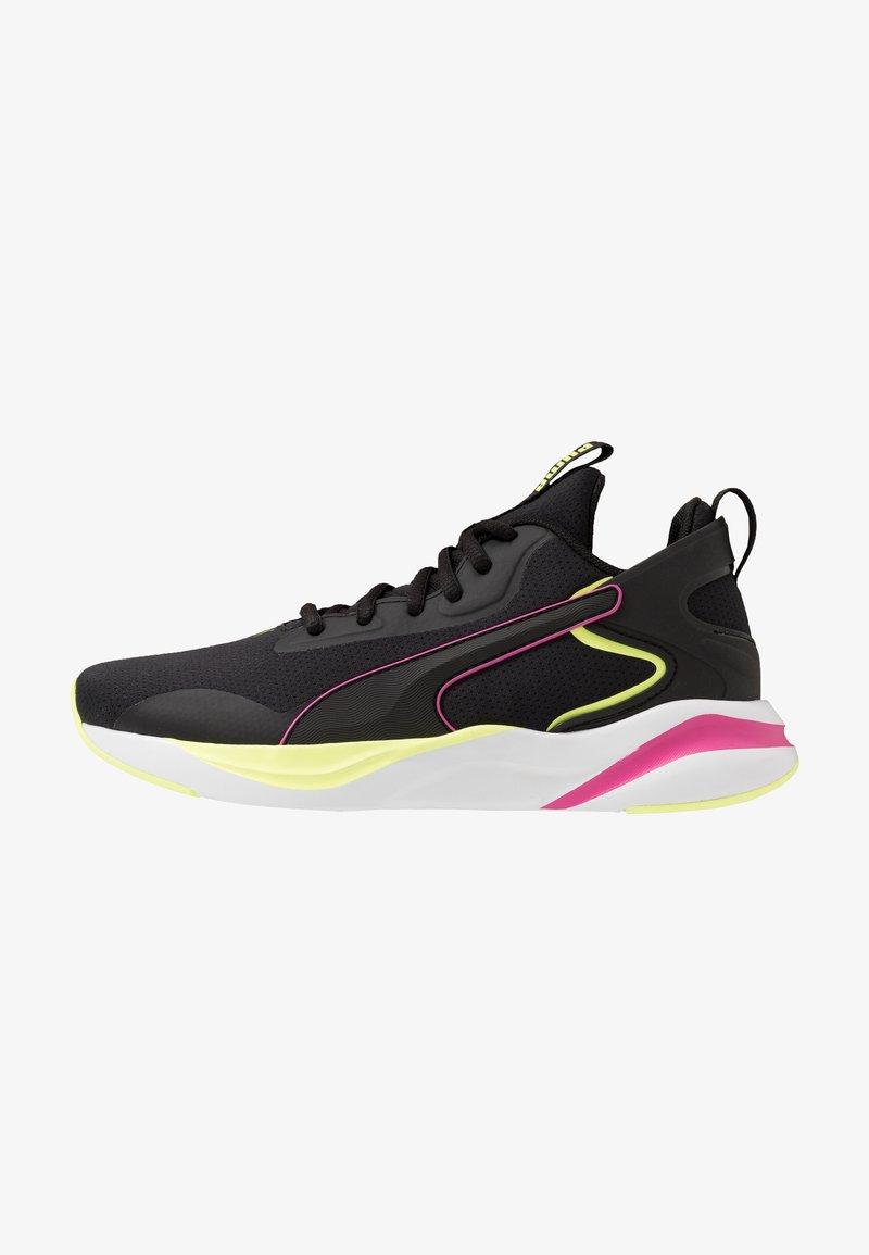 Puma - SOFTRIDE RIFT TECH - Zapatillas de running neutras - black/fizzy yellow