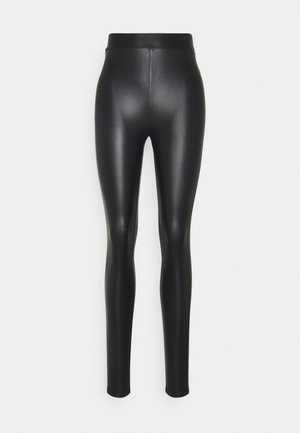 ONLCOOL COATED LEGGING - Leggings - black