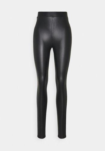 ONLCOOL COATED LEGGING - Leggings - Trousers - black