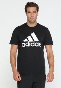 adidas Performance - TEE - T-shirt imprimé - black/white - 0