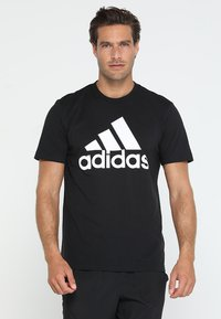 adidas Performance - TEE - T-shirt imprimé - black/white - 0