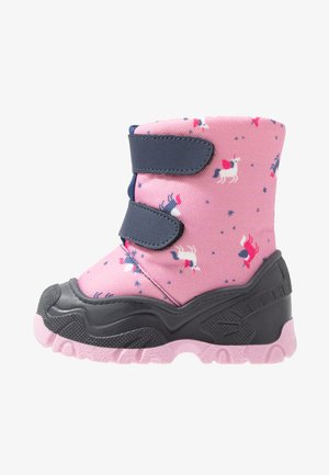 Winter boots - dark blue/rose