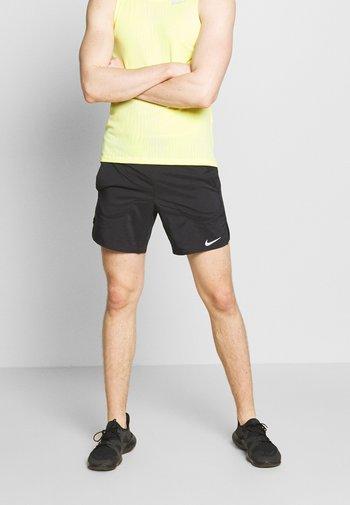 Pantalón corto de deporte - black/reflective silver