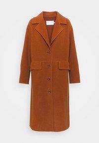 Proenza Schouler White Label - DOUBLEFACE COAT WITH SIDE SLITS - Zimní kabát - chestnut - 7