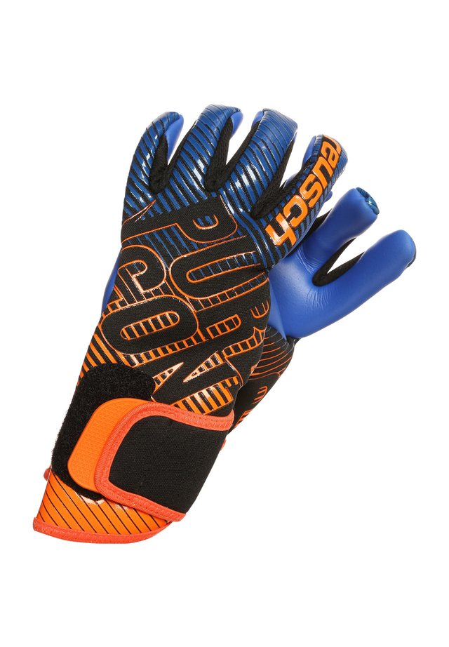PURE CONTACT 3 S1  - Guanti da portiere - black / shocking orange / deep blue