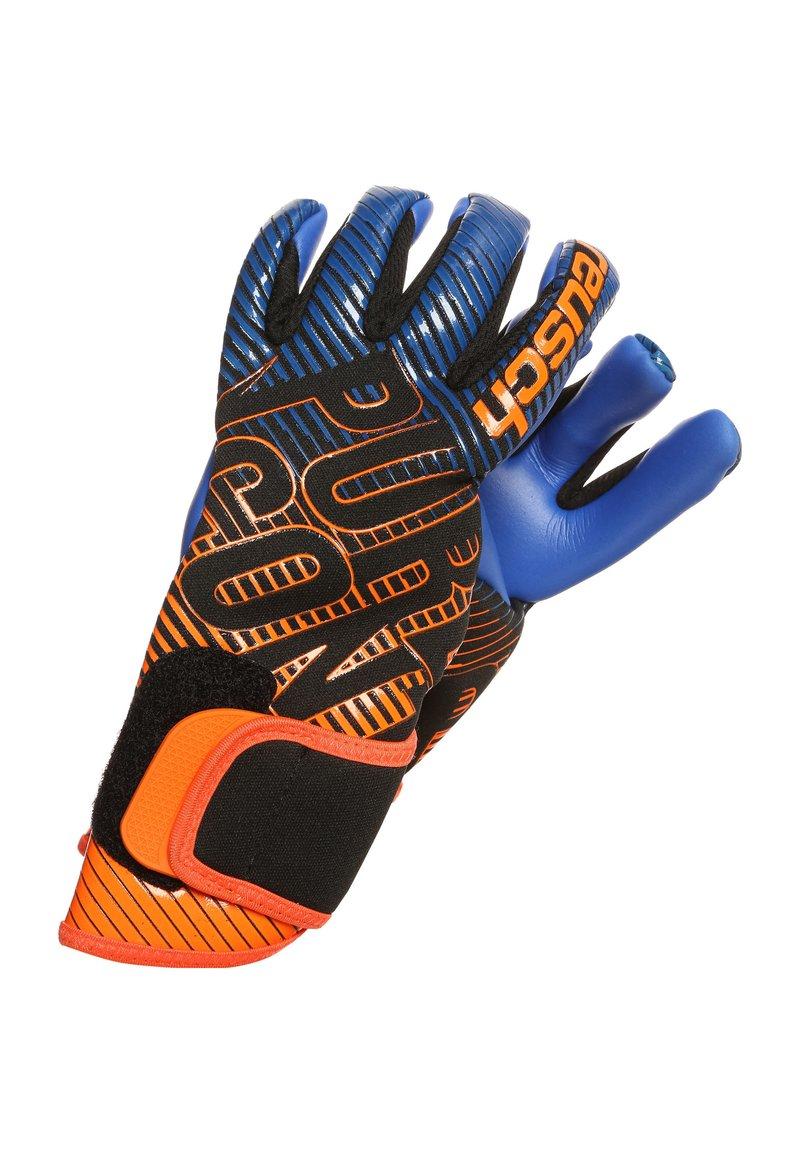 Reusch - PURE CONTACT 3 S1  - Goalkeeping gloves - black / shocking orange / deep blue