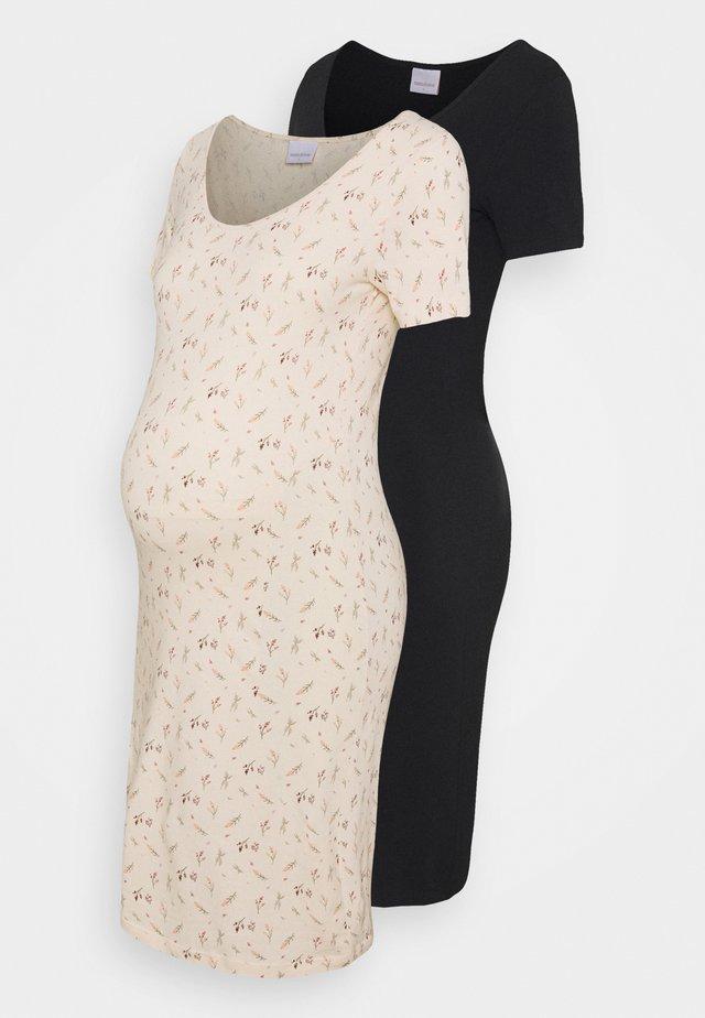 MLFIA MIX DRESS 2 PACK - Žerzejové šaty - whitecap gray