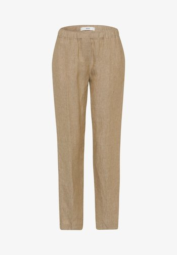 STYLE MARON - Trousers - toffee