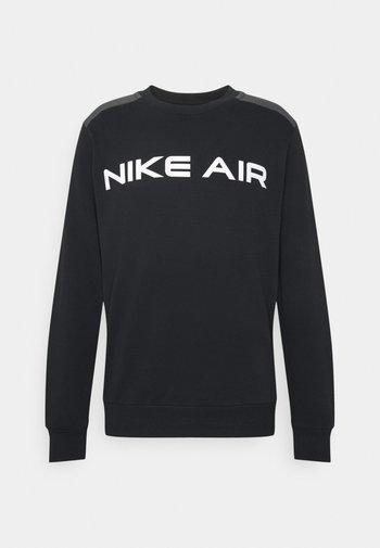 AIR CREW - Sweatshirt - black/dk smoke grey/white