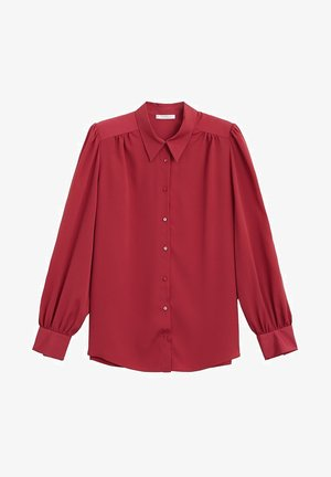 LAURA - Button-down blouse - weinrot