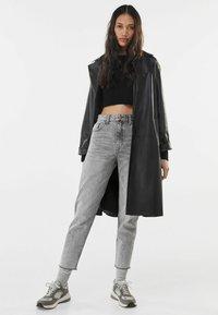 Bershka - Jeans baggy - grey - 1