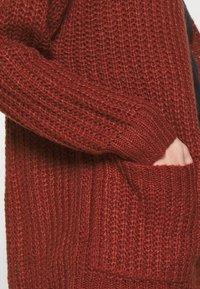 JDY - JDYHAIRY CARDIGAN  - Cardigan - russet brown - 4