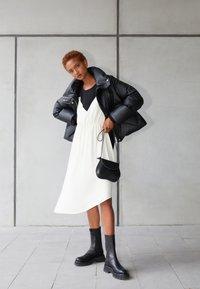 MM6 Maison Margiela - DRESS - Cocktail dress / Party dress - black/off white - 2