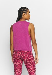 Cotton On Body - ALL THINGS FABULOUS CROPPED MUSCLE TANK - Top - boysenberry washed - 2