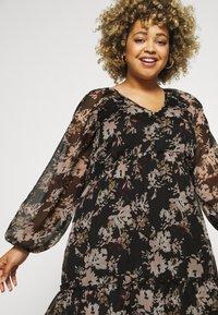 Vero Moda Curve - VMFRIDA V NECK DRESS - Day dress - black - 3