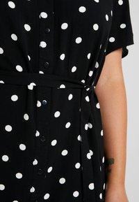 JUNAROSE - by VERO MODA - JRTRACY KNEE DRESS - Sukienka koszulowa - black/white - 4