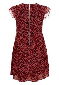 J.CREW - ELSA HEARTS DRESS - Sukienka letnia - navy/red - 1