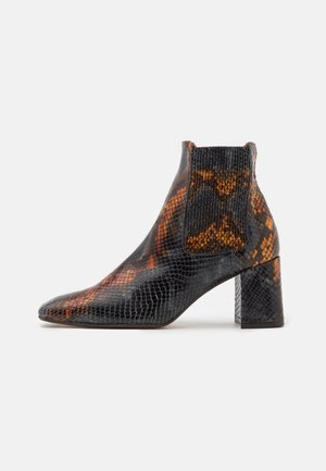 BETA UMBER SNAKE - Classic ankle boots - multicolor