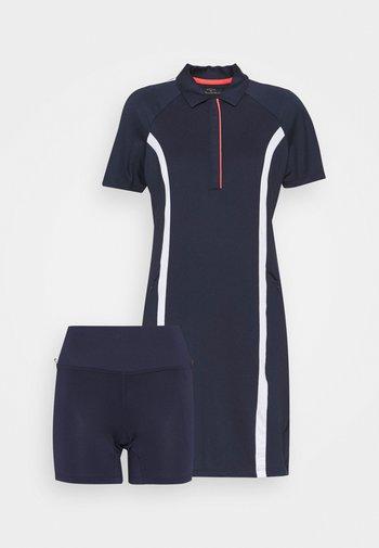 COLOURBLOCK DRESS 2-IN-1 - Leggings - peacoat