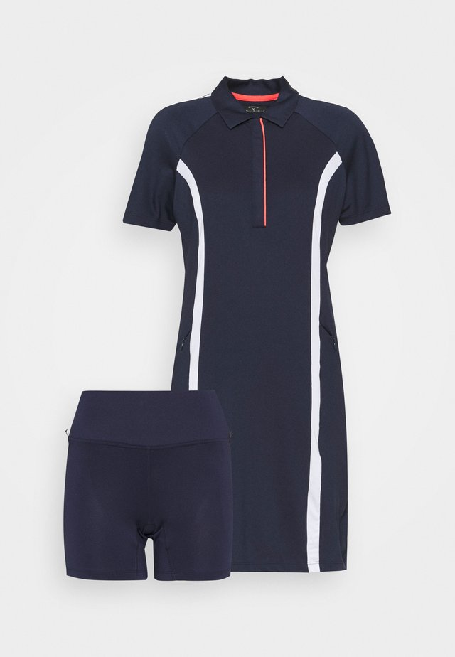 COLOURBLOCK DRESS 2-IN-1 - Collant - peacoat