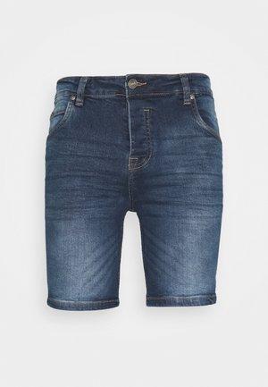 Shorts di jeans - dark blue wash