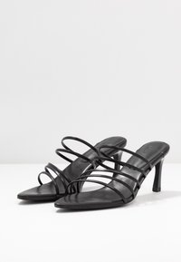 NA-KD - STRAPPY POINTY  - Heeled mules - black - 4