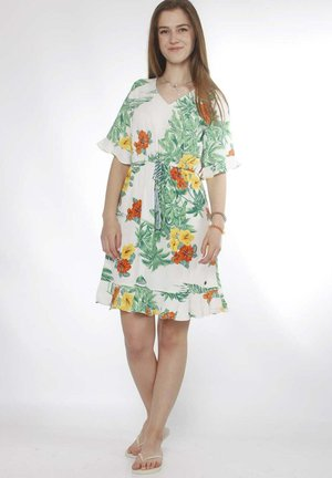 ALISA  - Day dress - white / tropical